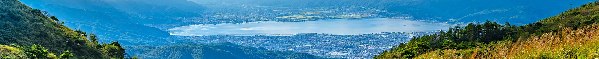 諏訪湖の夏の風景