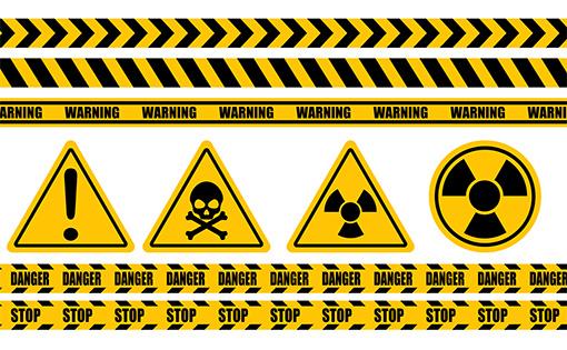 注意・警告ステッカーのイメージ