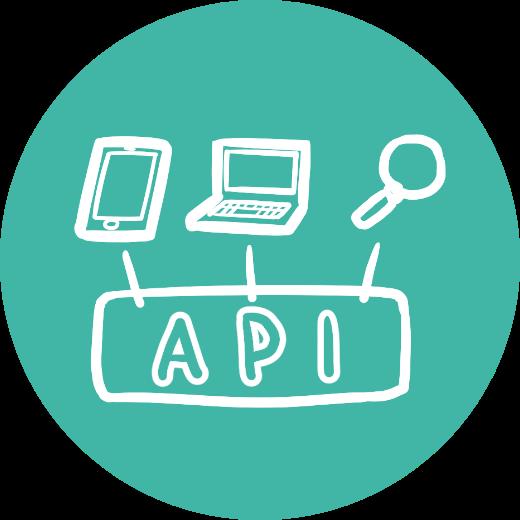 ヘッドレス型構造でAPI・データ連携が可能